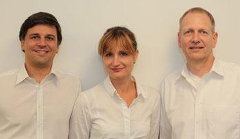 Dr. med. univ. Erwin Ertel, Dr. med. Christine Kusserow-Napp, Dr.med. Stefan Bodanowitz (v.l.n.r.)