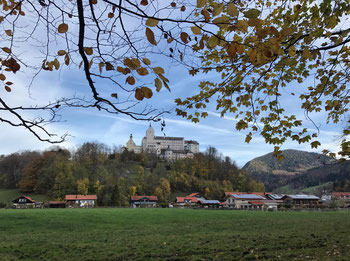 Blick auf das Schloss Hohenaschau