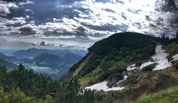 Kurz vor dem Gipfel des Breitenstein