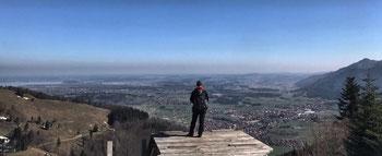 Aussicht von der Bergstation der Hochplattenbahn