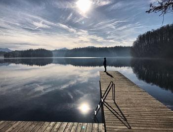 Badeplatz am Langbürgner See
