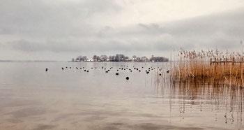 Blick von Gstadt zur Fraueninsel