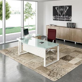 Büromöbel Schreibtisch Glastisch Chefbüro