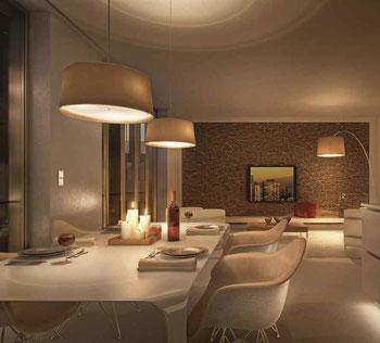 gem tliche beleuchtung mit dimmern strom sparen bauidee das exklusive magazin f r neubau. Black Bedroom Furniture Sets. Home Design Ideas