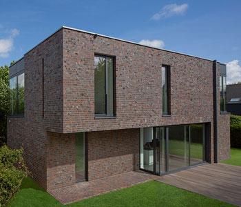 Einzigartige Fassadengestaltung mit Ringofenklinker. Foto: CRH Clay Solutions