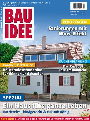 BAUIDEE Ausgabe für Juli/August ist ab sofort im Handel erhältlich. Oder Sie bestellen bequem online unter shop.bauidee.de.