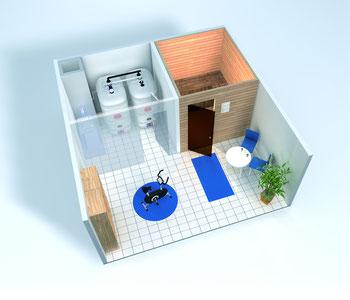 Die Unterbringung moderner Öl-Tanks im Haus ist flexibel –  dank Geruchssperre und Doppelwandigkeit. Grafik: Schütz Energy Systems