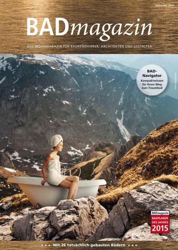 Das neue BADmagazin, kostenlos als Beilage der aktuellen BAUIDEE. Foto: SHK