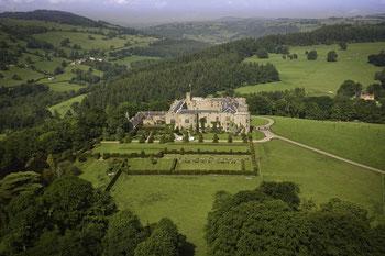 Chirk Castle Luftbildaufnahme