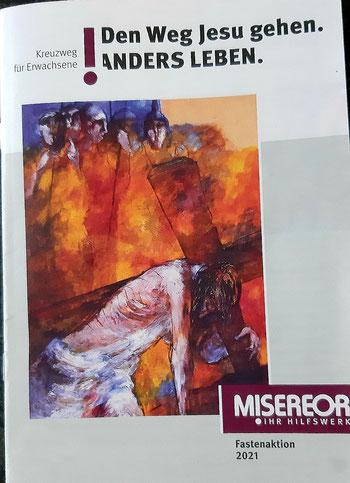 Titelseite des MISEREOR-Gebetsheftes 2021