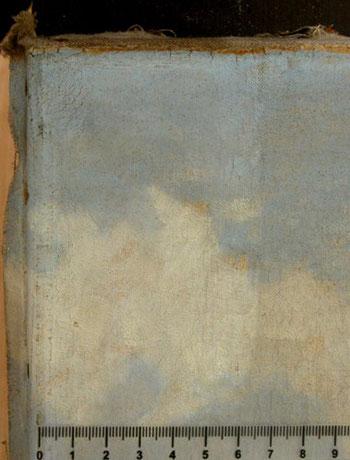 Oberflächenreinung, verschmutzte Malerei, Gemäldereinigung