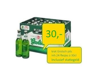 heerlijke grolsch pils krat 24 flesjes gekoeld bier  in Almelo aanleveren