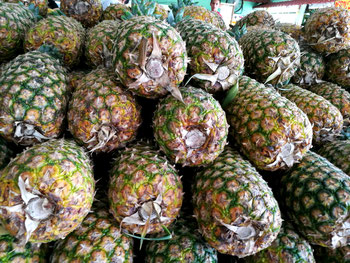 a big mountain of Pineapples