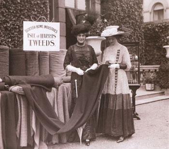 Historisches Foto, gefunden auf der Website der Harris Tweed Authority.