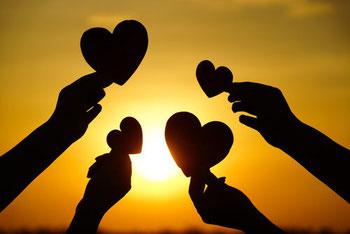 Partage d'amour inconditionnel / Coeur / Témoignages séances d'hypnose collective et individuelle