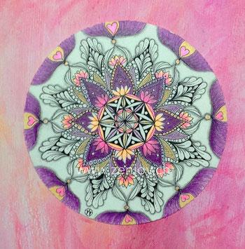 Namaste Zendala by Zenjoy Zentangle