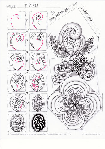 Zentangle® Pattern Trio by Zenjoy Schweiz