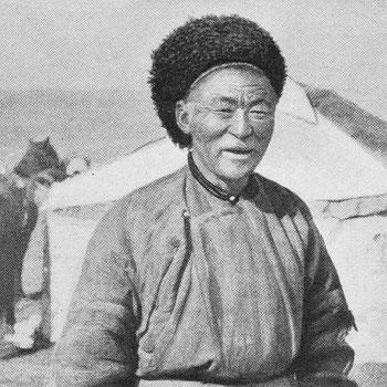 Type de Mongol.  Fernand Grenard (1866-1942) : Haute Asie. [Mongolie, Turkestan chinois, Tibet]. Deuxième partie du tome VIII de la Géographie Universelle. Armand Colin, Paris, 1929.