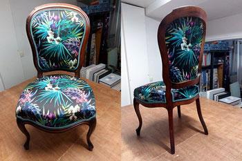 marylinegrac- tapissier d'ameublement-Chaise. Rénovation complète
