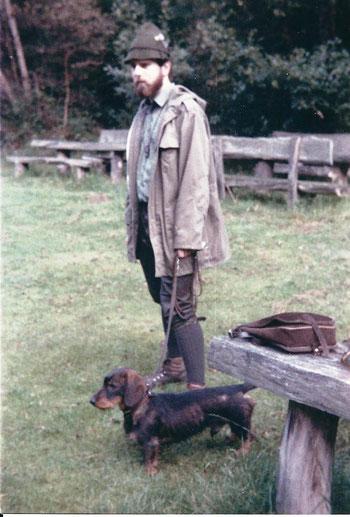 Ambo vom Kaufunger Wald auf der Schweißprüfung am 06. September 1987 1. Preis und Tagessieger, Foto: Ulf F. Baumann