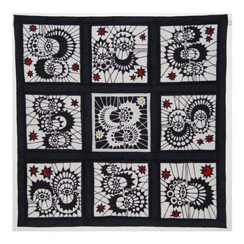Jutta Kohlbeck / Teilnahmequilt an der 4. internationalen Quilttriennale der Textilsammlung Max Berk / Heidelberg