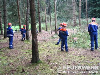 """""""Waldbrandeinsatz"""" bei der 24 Stundenübung 2005 am Turnerheim"""