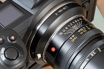 Testbericht: OCAMO-Adapter L/M-Nik-Z mit LEICA M Objektiv an NIKON Z. Foto: bonnescape