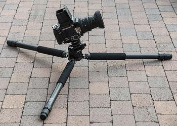 Meine Kameraausrüstung: MAMIYA RB67 Pro S mit K/L 3,5/90 mm und FEISOL-Stativ. Foto: bonnescape.de