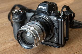 Nikon Z mit Meyer Primagon 35 mm 1:2,8 per Adapter Exakta-NikonZ von PIXCO. Foto: bonnescape