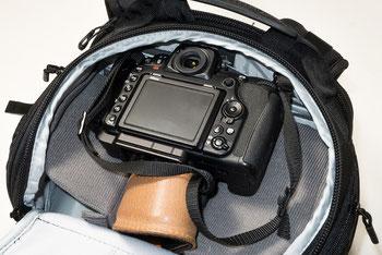 Oberes Fach mit D500: LowePro ProTactic 450 AW II. Copyright 2020 by bonnescape.de