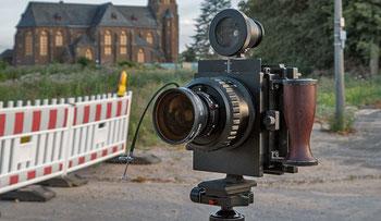Meine Kameraausrüstung: WISTA 4x5 SP - Panzer unter den Laufbodenkameras für 4x5 inch. Foto: bonnescape.de