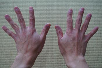 表具師(職人)の手
