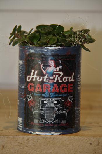 hot rod grage auto dose büchse sukkelente pflanze