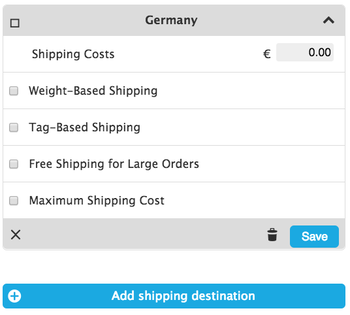 Shipping costs available