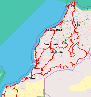 Raodtrip Marokko 2018/2019 - mit dem Offroad VW Bus in Marokko