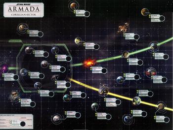 Die Karte von Konflikt um Corellia