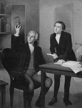 IE DuPont de Nemours avec Antoine Lavoisier