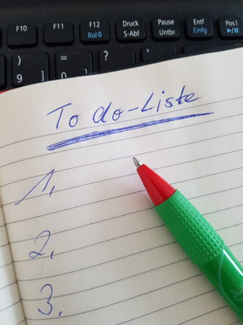 Stressbewältigung: To do-Liste