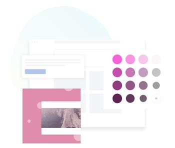 綺麗に見えるカラーパレットを AI が提案