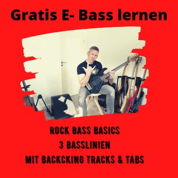 E Bass lernen: Rock Bass mit TABS Noten Backing Tracks
