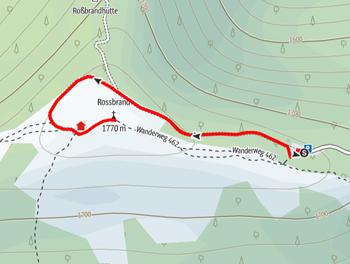 Route auf den Rossbrand