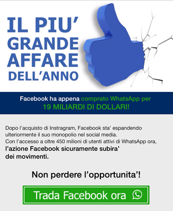 analisi opzioni binarie whatsapp facebook