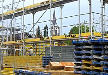 09. August 2016 - Kirche und Bäume verschwinden. Es wird gebaut!