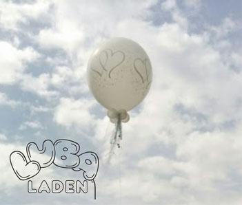 Hochzeit Riesenballon mit Helium gefüllt