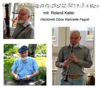 Roland Keller Hackbrett Fagott KlarinetteUrsula Eugster und Thomas Osterwalder sind im Lehrberuf tätig. Ralph Gerber und Sepp Schuler züchten Burenziegen