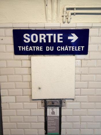 théâtre, châtelet, métro