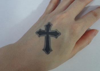 ボディーペイント,エアブラシ,十字架