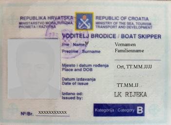 kroatische küstenpatente bootsführerschein yachtführerschein boat skipper b inklusive ukw funk