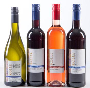 Kölle Weiß-, Rose- und Rotwein