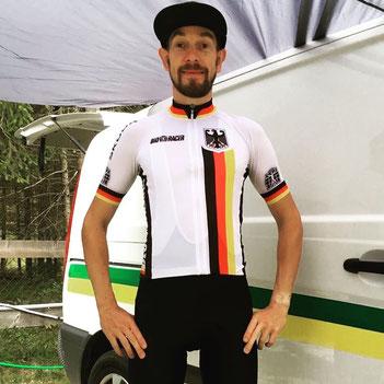 Sebastian Geimecke bei der UCI Mountainbike Marathon WM